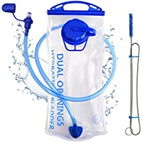 Hydration Bladder 2 Liter Water Reservoir 2L Leak Proof Water Bladder Bag, Replacement Reservoir Fits Most Hydration Packs, for Outdoor Hiking Cycling Climbing Running, Dual Opening, BPA Free