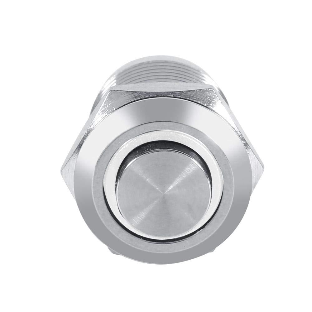 LED rosso 2V interruttore a pulsante momentaneo a LED in metallo impermeabile cerchio da 12 mm a filo alto 4 pin 1NO Interruttore momentaneo a LED Suuonee