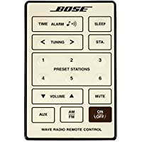 Genuine OEM Bose REMOTE CONTROL for Bose Wave Radio Cream White Series I Models AWR1-1W, AWR113, AWR131, Versions 1, 2, 3 and (AWR1G1 Version 5 w/o alarm set)