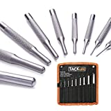 9 Pieces Roll Pin Punch Set 50 CRV, TACKLIFE Pin Punch Tool Kit for Gunsmith,Automotive,Watch Repair,Jewelry and Craft   PP01