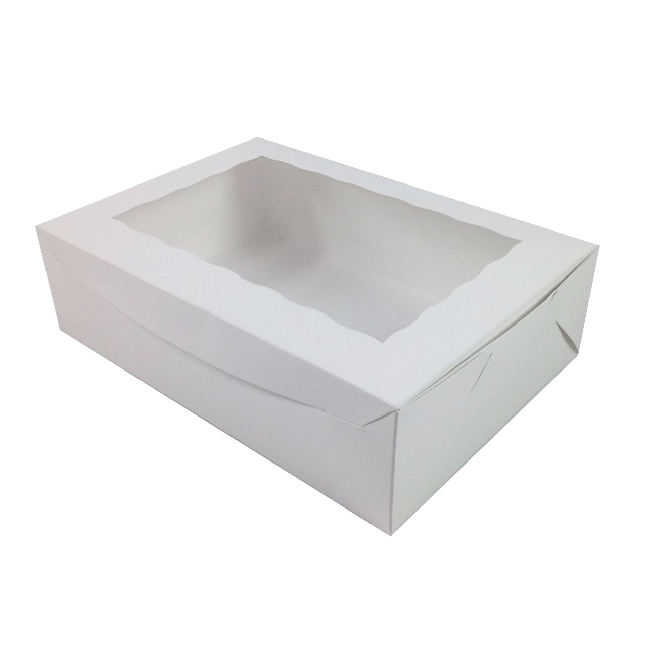 Black Cat Avenue 14'' x 10'' x 4'' Cake Boxes White Window Paperboard Cupcake Boxes Sheet Cake Boxes Donut Boxes Bakery Boxes, 5 Count