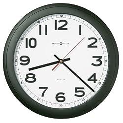 Howard Miller Elegant Norcross Auto Daylight-Savings Wall Clock, 12-1/4, Black (625320)