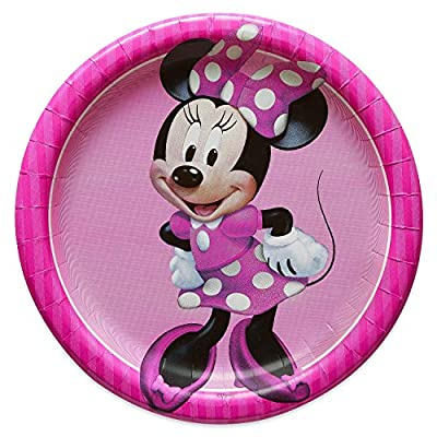 Minnie Mouse Party Supplies Tableware Bundle Pack for 16 Guests - Includes 16 Dinner Plates, 16 Dessert Plates, 16 Dinner Napkins, and 1 Tablecover: Toys & Games