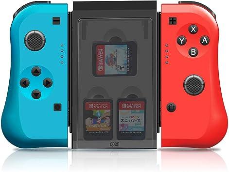 MAXKU Mando para Nintendo Switch, juego de 2 unidades de repuesto Joy con izquierda y derecha, inalámbrico Bluetooth Gamepad Joystick controlador (L) azul / (R) rojo: Amazon.es: Electrónica
