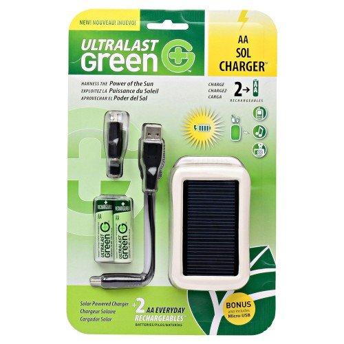 (UltraLast Green ULGSOLAR Solar Charger - 5 V DC - USB)