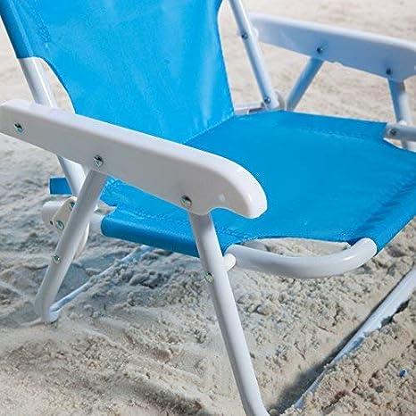 Amazon.com: Kids Azul silla de playa y paraguas, Azul: Baby
