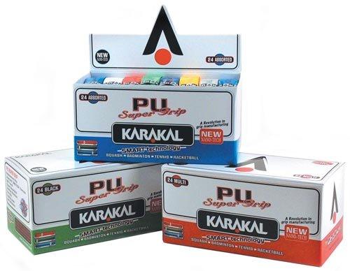 Karakal PU Super Grip Box 24 Duo Replacement Grip-Assorted Colors