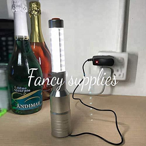 LED Strobe Baton - Rechargeable - Bottle Service for VIP Nightclubs Led Bottle Baton Hand held 1 Piece -Silver Case-