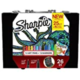 Sharpie New Coloring Kit with 12 Art Pens + 13 Markers+1 Connect the Dots Coloring Book