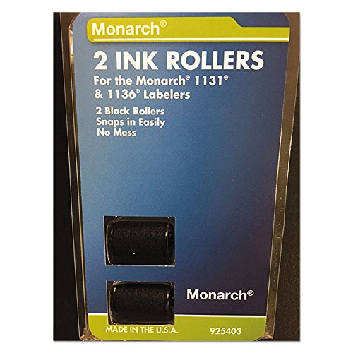 Monarch 925403 925403 Replacement Ink Rollers, Black, 2/Pack