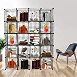 ICOCO Upgrade Storage Cubes - Stackable Interlocking Wire Shelves DIY Closet Organization System, Bookcase, Cabinet (20 Cubes)