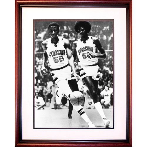 NCAA Syracuse Orange Roosevelt Bouie and Louis Orr Basketball Framed Igned 16x20 Photo by Steiner Sports