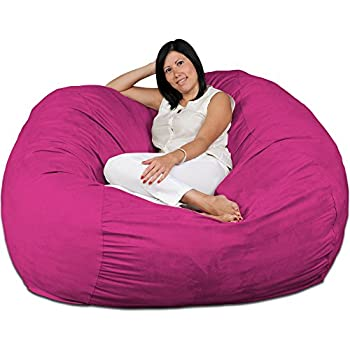 Amazon Com Fugu Large Bean Bag Chair Premium Foam Filled