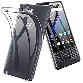 TopACE for BlackBerry KEY2 LE Case, TPU Rubber Gel Shock-Absorption Bumper Anti-Scratch Transparent Silicone Cover Only for BlackBerry KEY2 LE [NOT for BlackBerry KEY2] (Clear)