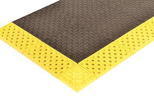 NoTrax 920H3048BY Cushion-Lok Heavy Duty Solid 30X48 Black/Yellow, 0.875