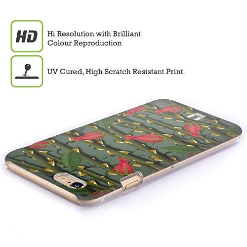 Head Case Designs Scarlatto Rose Cover Retro Rigida per Apple iPhone 7 Plus / 8 Plus