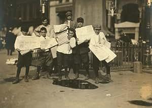 1910 child labor photo Heavy Loads. Park Row. Location: New York, New York (S b9