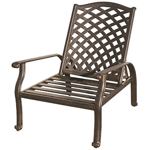 Darlee Nassau Adjustable Patio Club Chair in Antique Bronze