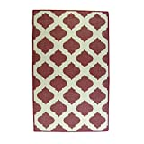 Lava Pillows Floor Decorative Tile 32''x52'' Outdoor Reversible Rug Red/Ivory
