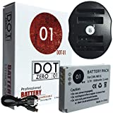 DOT-01 Brand 1500 mAh Replacement Canon NB-5L Battery and Dual Slot USB Charger for Canon SD870 IS Digital Camera and Canon NB5L