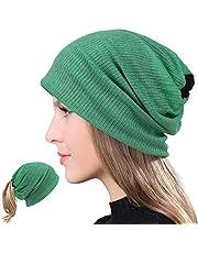 VECRY Slouchy mössa för kvinnor tunn sommar skalle keps turban mjuk sömn kemo hattar