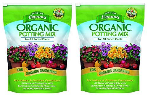 - Espoma AP8 8-Quart Organic Potting Mix (2 Pack - 8 Quart) ...