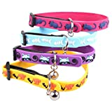 BleuMoo Dog Puppy Cat Ring Bell Collars Leashes Adjustable Durable