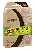 Scotch-Brite Greener Clean Natural Scour Pads, 3 Pads (4 Pack)