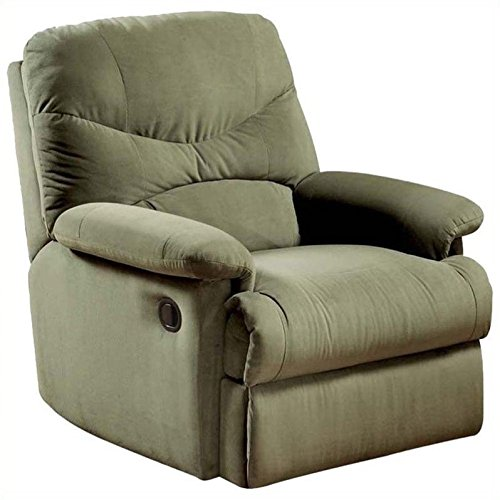 ACME 00630 Arcadia Recliner, Sage Microfiber  PICK UP ONLY!!
