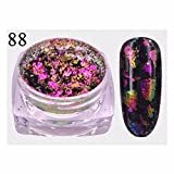 #10: Naladoo Nail Art Tool,Glitter Aluminum Flakes Magic Mirror Effect Powders Sequins Nail (B)