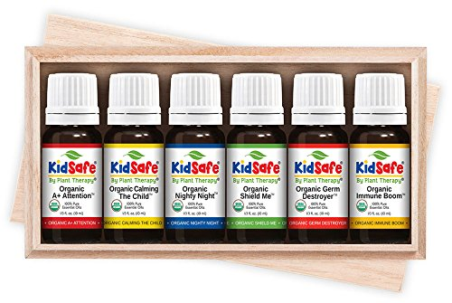 Plant Therapy KidSafe Organic Synergy Essential Oil Set 10 mL (1/3 oz) 100% Pure, Undiluted, Therapeutic Grade by Plant Therapy