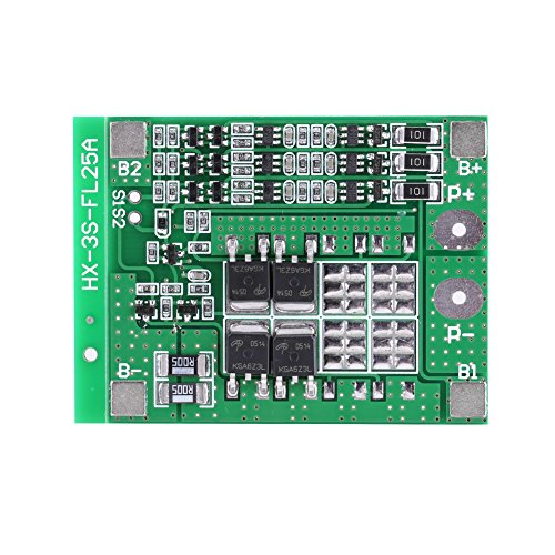 - Akozon Battery Protection Board, 3 Series 12V 15A Li-ion Lithium Battery 18650 Charger PCB BMS Protection Board(With balance)