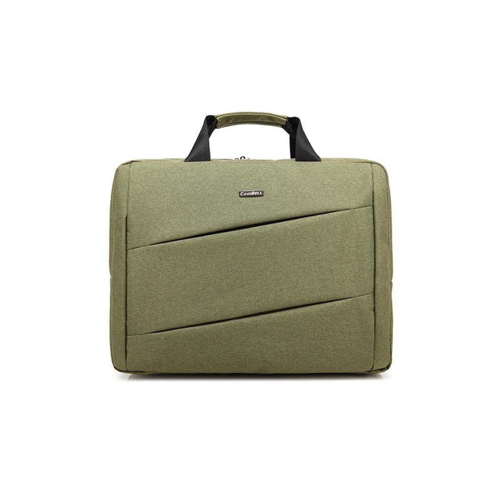 QSJY File Cabinets Handbags and Men's Shoulder Bags Business and Laptop Bags Laptop Accessory Bundles Women's Top-Handle Bags (Color : Green, Size : 42×32×9CM) by QSJY File Cabinets