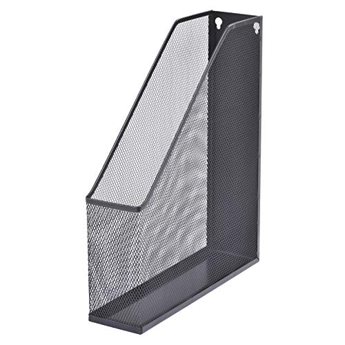 Buddy Products Mesh Magazine File, Metal, 12.6 x 2.8 x 10 Inches, Black - ZD019-4