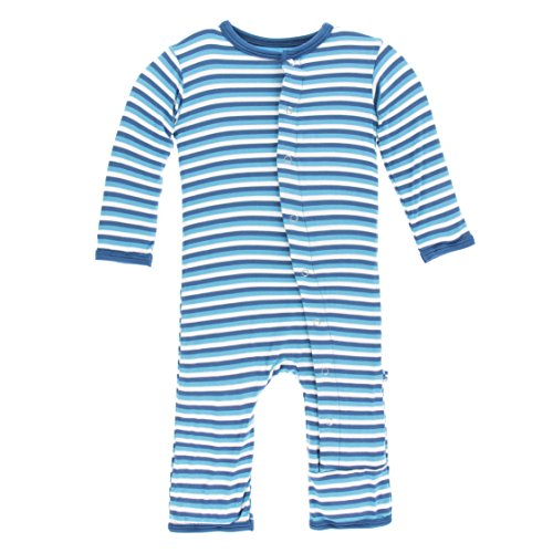 Confetti Stripe (Kickee Pants Unisex Baby Print Coverall with Snaps (Confetti Anniversary Stripe -, 0-3 Months))