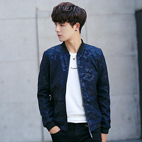 Los Hombres Chaquetas Chaquetas de otoño uniforme Sau versión coreana de la juventud, la Serie Azul L