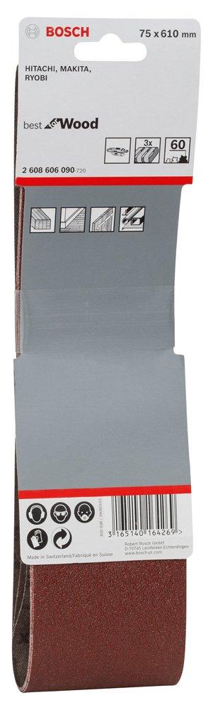 80 Grit Red Bosch Professional 2608606091 Sanding Belts75x610 G80