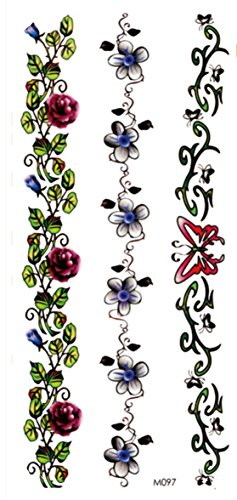 Butterflies Armband Tattoos - bracelet armband butterfly flower temporary tattoo womens lower back tattoos