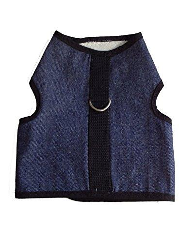 Kitty Holster Cat Harness, X-Large, Denim Blue