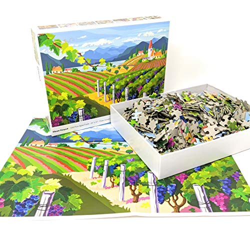 1000 Piece Puzzle for Adults: Vibrant Vineyard Jigsaw Puzzle