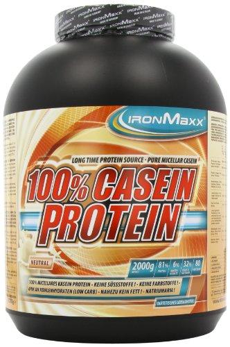 Ironmaxx 100% Casein-Protein Neutral, 1er Pack (1 x 2 kg)