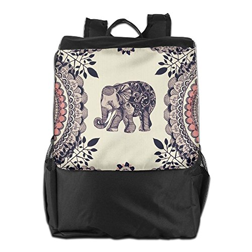 HSVCUY Personalized Outdoors Backpack,Travel/Camping/School-Elephant Adjustable Shoulder Strap Storage Dayback For Women And Men