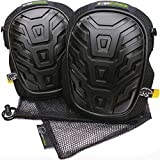 Everstärke Premium Professional Knee Pads - Comfortable Heavy Duty Foam and Soft Gel Core - Non-Slip Adjustable Neoprene Straps - Protection for Construction Work, Gardening, Flooring, Tiling, HVAC