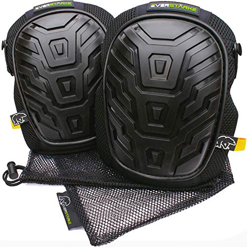 All Pads Knee Terrain Gel (Everstärke Premium Professional Knee Pads - Comfortable Heavy Duty Foam and Soft Gel Core - Non-Slip Adjustable Neoprene Straps - Protection for Construction Work, Gardening, Flooring, Tiling, HVAC)