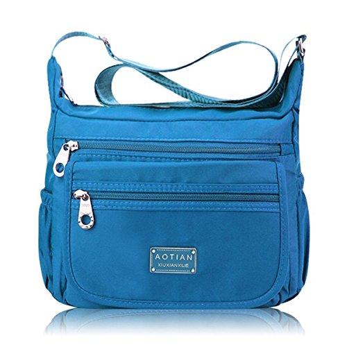JOSEKO JOSEKOukpursemall787 - Bolso al hombro para mujer, morado (Morado) - JOSEKOukpursemall789 Azul Claro
