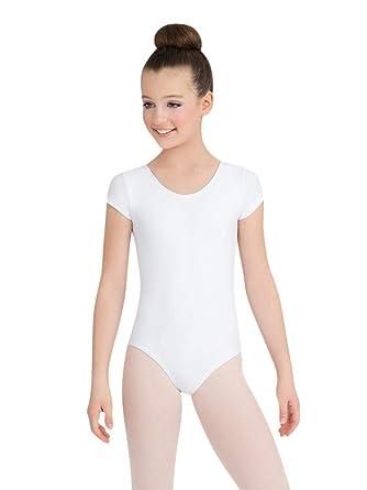 17a2457a4 Amazon.com: Capezio Girls' Team Basic Short Sleeve Leotard: Clothing
