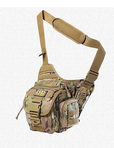 GXS 3502International China Outdoor Umhängetasche Super Sattel Taschen geneigt Tasche, Single mit 15Unabhängige Platz schwarz - schwarz