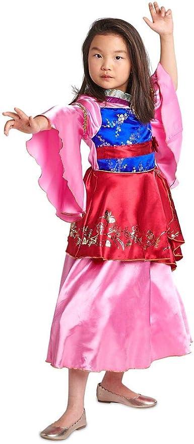 Amazon Com Disney Mulan Costume For Kids Girls Size 11 12 Clothing