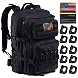 Tactical Backpack - Upgrade Tactical Backpack Waterproof, Military Molle Backpack, Army Backpack, 3 Day Assault Pack Molle Bug Out Bag, Large Assault, Ideal for Hiking, Camping, Trekking, Outdoor and Hunting. (Black-01)