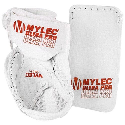 Mylec Ultra Pro Senior Roller Hockey Catch Glove - BLACK Left Hand (Senior Pro Hockey Gloves)
